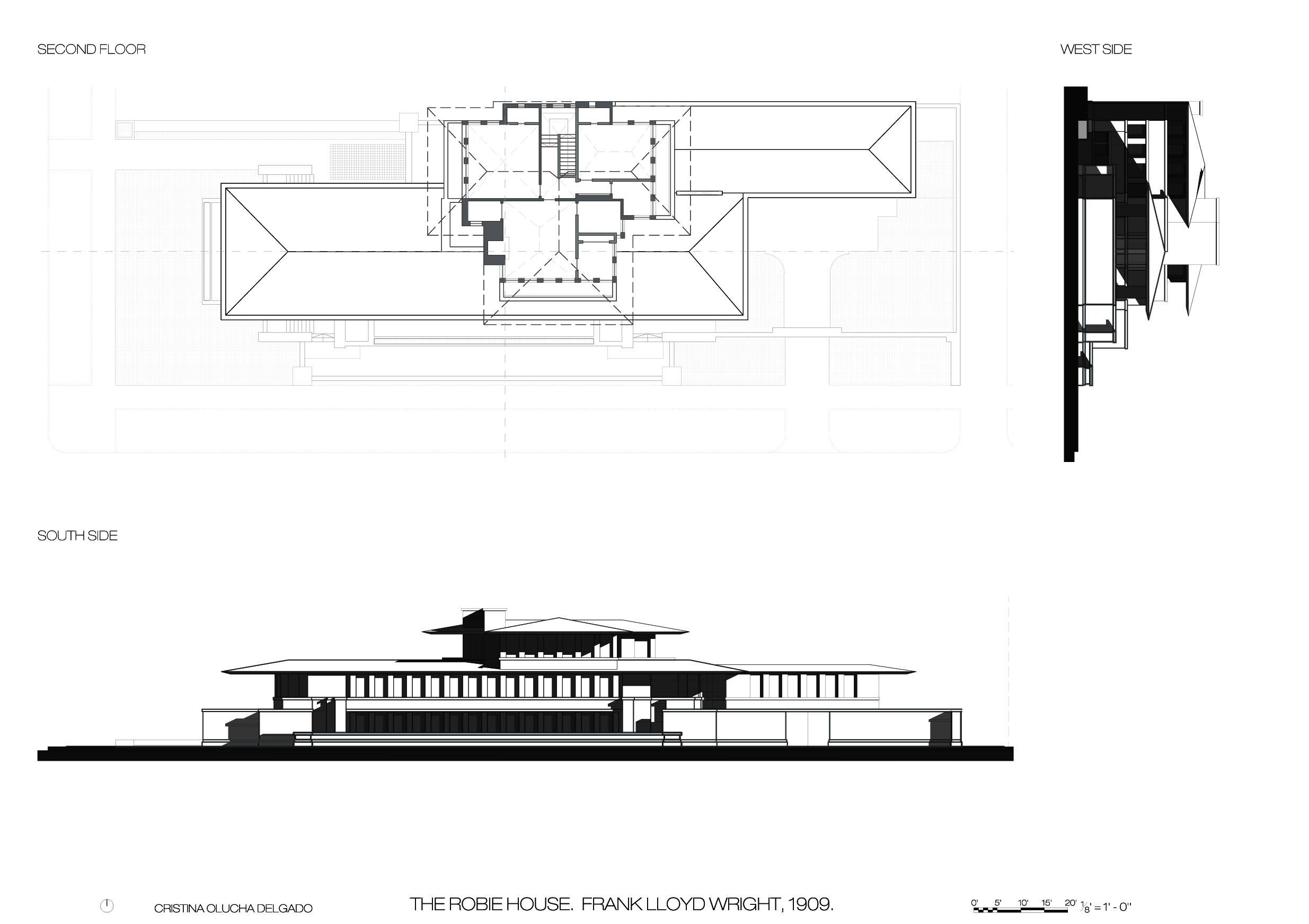 Frank Lloyd Wright Robie House Chicago USA 1910 – Atlas of