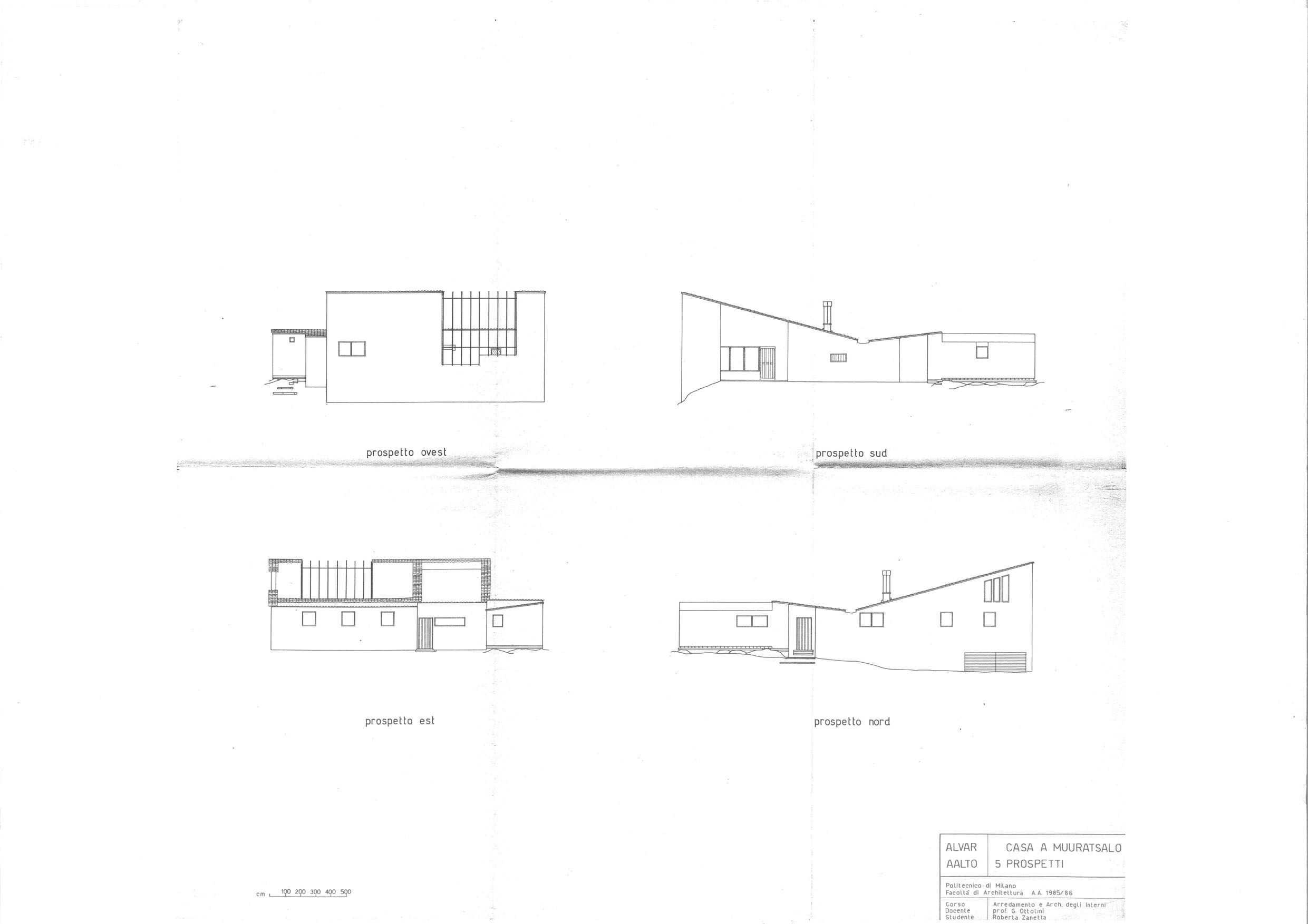 Experimental house alvar aalto plans | House plans