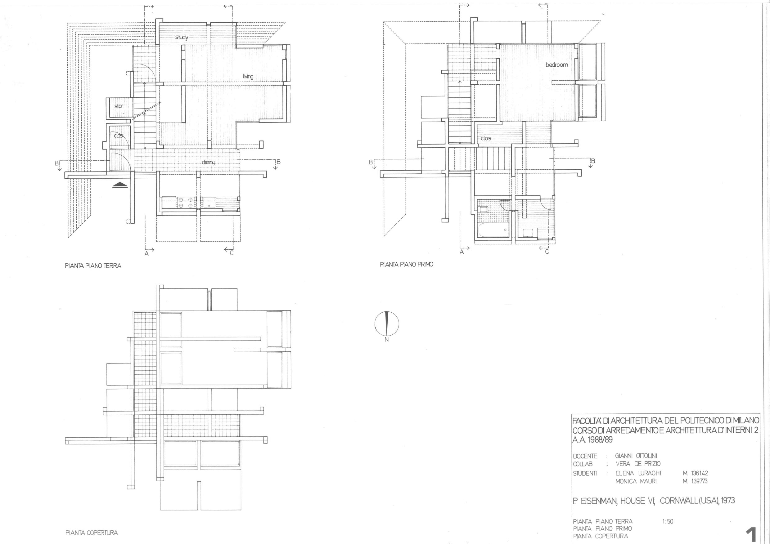 Eisenman 1973 Housevi 0021 Usa Architectural Design House Plans 7 On Usa Architectural Design House Plans
