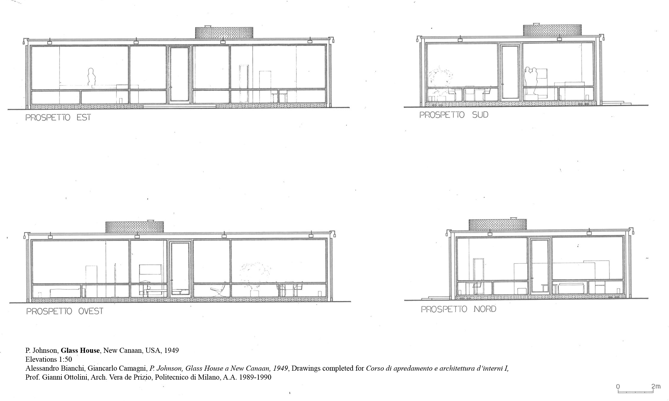 Philip johnson glass house new canaan usa 1949 atlas for Small glass house plans
