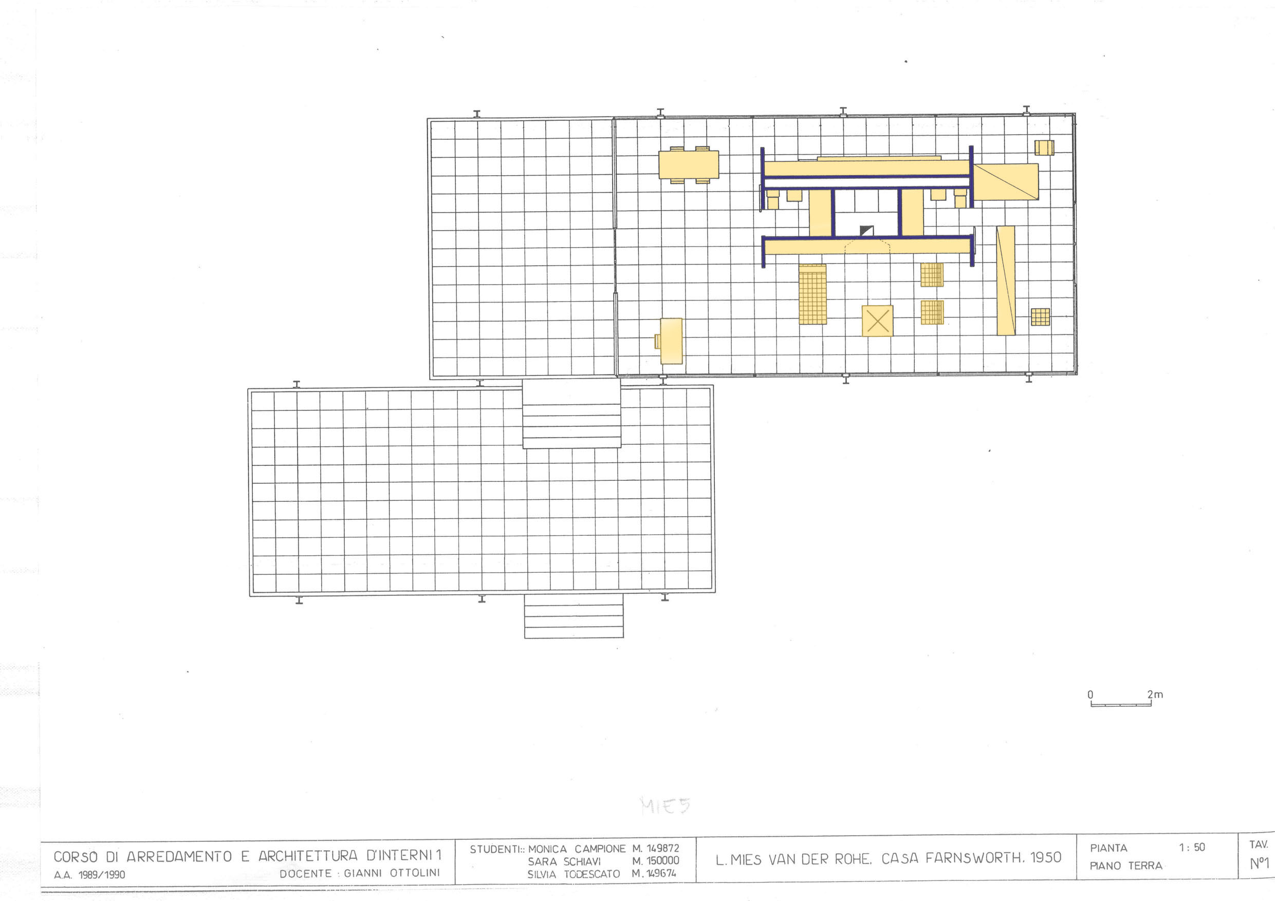 Mies Van Der Rohe Farnsworth House Plans